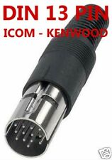 13 PIN CONNETTORE DIN  ACC PER RTX  KENWOOD - ICOM