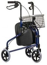 Dreirad-Rollator stählern Rollator Gehwagen 3 Rad Rollwagen Gehhilfe Tom