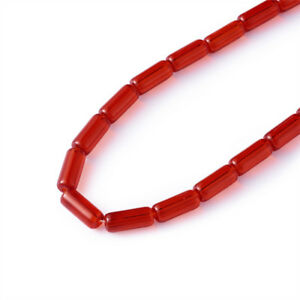 """32~33pcs 10x4mm Transparent Glass Tube Beads Jewelry Making Jewelry Findings 12"""""""