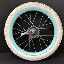 "Complete 16"" Rear Blue Bicycle Wheel w/ Coaster Brake & 1.95"" Tire - Bike #H24"