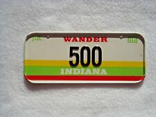 1986 INDIANA Post Cereal License Plate # 500