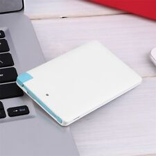 Ultra Slim Portable 2500mAh External Battery USB Power Bank For Cell Phone #D