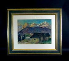 Willy TIEDJEN (1881-1950)    - Landschaft Bergbauernhof mit schönen Rahmen