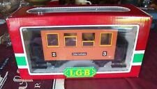 Lgb 3007 Zillertalbahn Coach, Led's+Anti-Flicker Batt + Lgb Chrome-Steel Wheels
