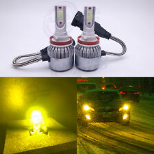 Cree LED Headlight H8 H9 H11 3000K Yellow Low Beam Fog Light DRL Bulbs Kit