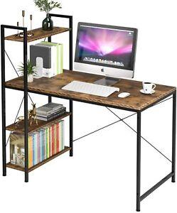 Computer Desk with Shelves 47.2 Inch, Modern Home Office Desk
