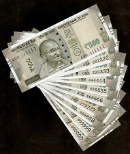 INDIA RS.500 BANKNOTES, SOLID FANCY NUMBER 111111 TO 1000000, SAME ALPHABET, UNC