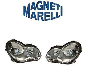 For Mercedes C230 C240 C320 01-07 Set of Left & Right Headlight Assies Halogen