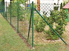 Maschendrahtzaun grün, Maschenweite 50 mm, Höhe 80 cm, Rollenlänge 25 m