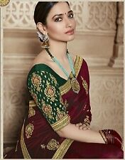 Bridal Bollywood Saree Designer Indian Party Wear Look Wedding Ethnic Women Sari