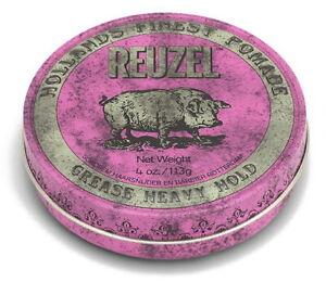 Pomade Pink REUZEL Pomade Strong Hold Scent After Kirsch- And Erdbeerkaugummi