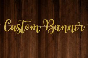 Customised Banner Personalised Banner Custom Glitter Banner Gold Glitter Card