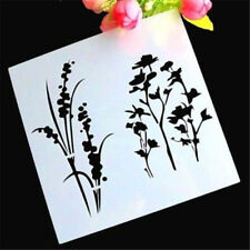 Rara Flora Grass Layering Stencil Template DIY Scrapbooking Home Bar Decor ♫