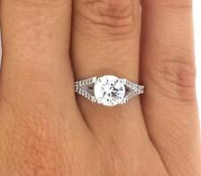 2.25 Carat Round Cut Diamond Solitaire Engagement Ring SI1 F White Gold 14K