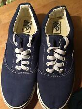 Blue vans trainers/shoes size 42 white lace ups