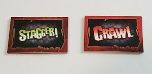 Zombie-opoly Board Game Replacement Pieces: 14 Crawl Cards, 14 Stagger Cards