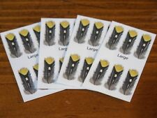 Imitation Jungle Cock Eyes for Fly Tying - Size Large / 24 per pack