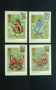 1981 BUTTERFLIES STAMPS PHQ CARDS WITH WINDSOR FIRST DAY OF ISSUE POSTMARK