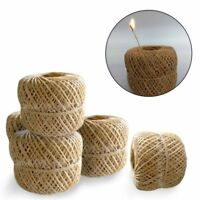 200 Feet Organic Hemp Wick Natural Beeswax Coating Candle Wick DIY Crafts 1mm TT