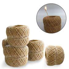 200 Feet Organic Hemp Wick Natural Beeswax Coating Candle Wick DIY Crafts 1mm TT