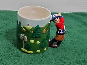 Golf Coffee Mug Cup Player On Course Ceramic
