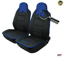 Blue Black Luxury Leatherette & Fabric Car Seat Covers For Vauxhall Corsa Astra
