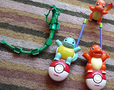 POKEMON WALKIE TALKIES Charmander Squirtle Rayquaza Light Up & Voice Figures