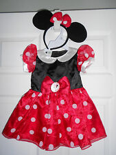 Disney Baby Minnie Mouse Costume Dress Infant Size 6-9 Months