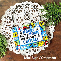 CHEAGLE Doorknob Hanger * Dog Ornament Chihuahua Beagle Cross USA New DecoWords