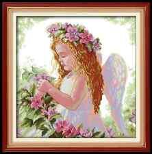 Kit broderie point de croix Un bel ange ,Cross Stitch Kit A Beautiful Angel.