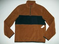 GAP Mock Neck 1/4 Zip Pullover FLEECE SHIRT Mens Size LARGE NEW