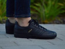8bf5e41cacc adidas Originals Gazelle Shoes Black Ladies Leather Trainers Retro BY9146  UK 4