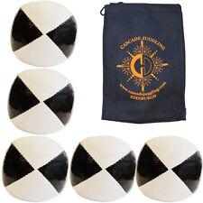 5 x Black/ White 120g Thud Juggling Balls & Bag - Quality Juggling Beanbags