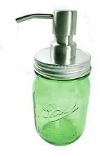 Ball Mason Pint Jar 440ml Green Soap Dispenser Heritage Stainless lid dispenser
