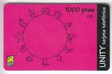 EUROPE  TELECARTE / PHONECARD .. ESPAGNE 1000P IDT ART MONDE WORLD  EM+N°