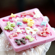 Cute Silicone Fondant Decorating Bowknot Modelling Mold Xmas Cake Baking Tools