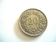 PIECE DE MONNAIE 20 CENTIMES 1955 SUISSE CONFEDERATIO HELVETICA SWITZERLAND