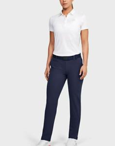 NWT$70 Under Armour Golf Women's UA Links Pants Blue 1372344-497