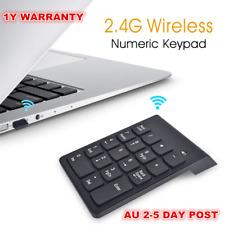 Wireless 2.4ghz 18 Keys Number Pad Numeric Keypad Keyboard for Laptop PC / Mac