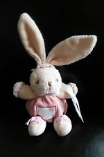 46/ MINI DOUDOU BOULE KALOO LAPIN ATTACHE TETINE LILI ROSE -  ETAT NEUF !
