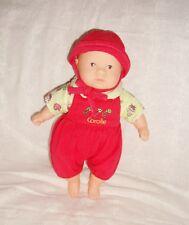 Mini Calin Corolle Dolls 20cm 2001 tenue rouge + chapeau