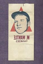 MICKEY MANTLE 1964 TOPPS PHOTO TATOO TATTOO RUB-OFF XFER RED TRIANGLE VARIATION