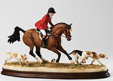 Border Fine Art Classic Ray Ayres Master With Hounds Bay Horse B1424 Ltd Ed New