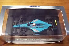 1/43 SPARK S1661  LEYTON HOUSE MARCH CG911 PAUL BELMONDO CANADA GP 1992