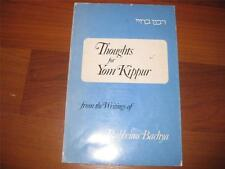 Thoughts for YOM KIPPUR from the writings of  Rabbenu Bahya EDITED BY CHAVEL