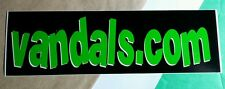 VANDALS . COM BLACK GREEN LETTERS MUSIC STICKER