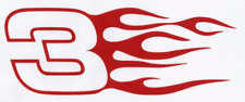 DALE EARNHARDT Sr #3 Vinyl Decal / Sticker nascar Flame