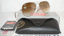 New RAY BAN Aviator Gunmetal/Light Brown Gradient RB3025 004/51 62 140