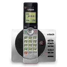 VTech CS6919 DECT 6.0 Cordless Phone w/ Caller ID & Speakerphone, Silver/Black