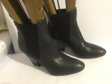 CLARKS ELLIS TWIRL BLACK LEATHER SIZE 7 ANKLE LADIES WOMENS BOOTS SHOES HEELS